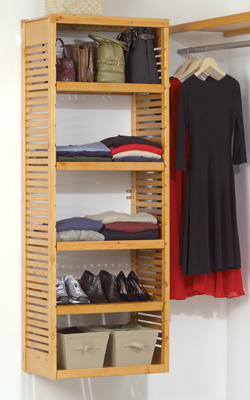 John Louis Home Storage Tower, Honey Maple, Paradise Closets And Storage