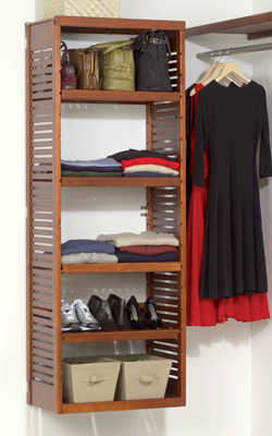 john louis home storage tower red mahogany paradise closets and storage